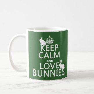 Keep Calm and Love Bunnies - all colors Basic White Mug