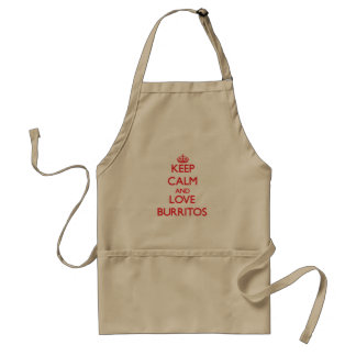 Keep calm and love Burritos Standard Apron