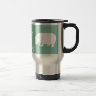 Keep Calm and Love Hippos Print Hippopotamus Stainless Steel Travel Mug