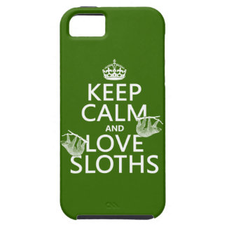 Keep Calm and Love Sloths (any background color) iPhone 5 Covers