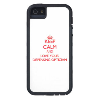 Keep Calm and Love your Dispensing Optician iPhone 5 Covers