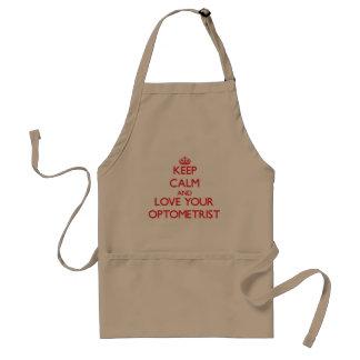 Keep Calm and Love your Optometrist Standard Apron