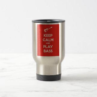 Keep Calm and Play Bass Stainless Steel Travel Mug