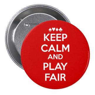 Keep Calm And Play Fair 7.5 Cm Round Badge