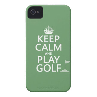 Keep Calm and Play Golf - all colors iPhone 4 Covers