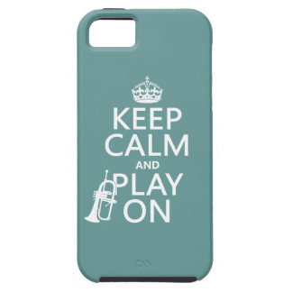 Keep Calm and Play On (cornet)(any color) iPhone 5 Cases