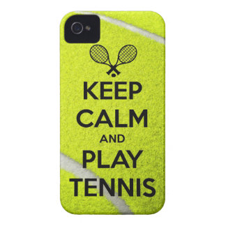 Keep calm and play tennis sport ball racket sports iPhone 4 Case-Mate case