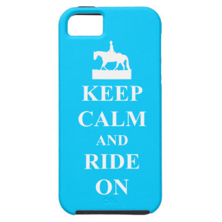Keep calm and ride on (blue) iPhone 5 cover