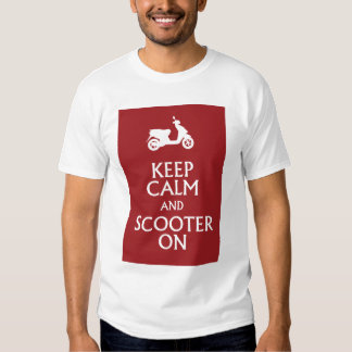 Keep Calm and Scooter On Tee