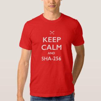 KEEP CALM AND SHA-256 SHIRTS