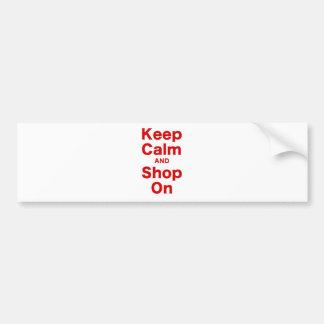 Keep Calm and Shop On Bumper Sticker