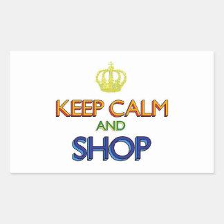 Keep Calm and Shop Rectangular Sticker
