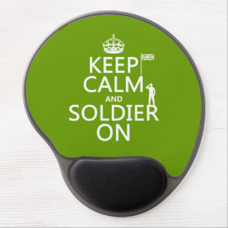 Keep Calm and Soldier On (UK flag)(any color) Gel Mouse Pad
