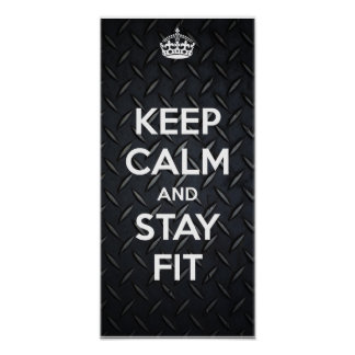 KEEP CALM AND STAY FIT POSTER