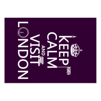 Keep Calm and Visit London (any color) Pack Of Chubby Business Cards