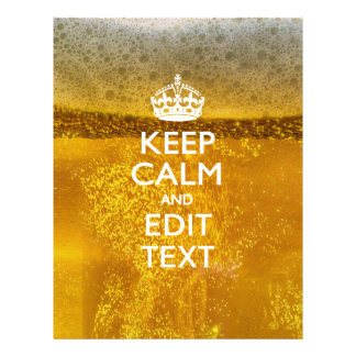 Keep Calm And Your Text for some Beer 21.5 Cm X 28 Cm Flyer