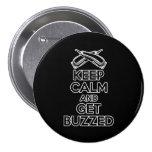 Keep Calm: Barber Humour 7.5 Cm Round Badge