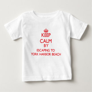 Keep calm by escaping to York Harbor Beach Maine Infant T-Shirt