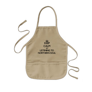 Keep calm by listening to NORTHERN SOUL Kids Apron