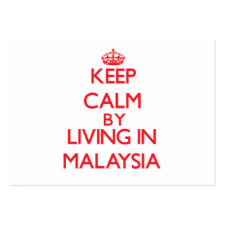 Keep Calm by living in Malaysia Pack Of Chubby Business Cards