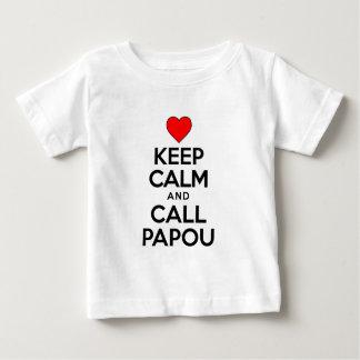 Keep Calm Call Papou T Shirts