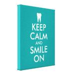Keep calm canvas print for dentist   dental clinic