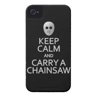 Keep Calm & Carry a Chainsaw Blackberry Curve case