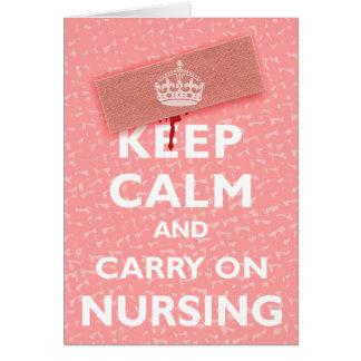 Keep Calm & Carry On Nursing Note Card