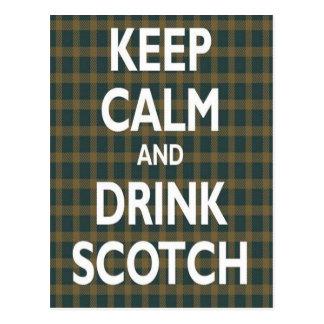 Keep Calm & Drink Scotch Postcard