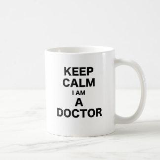 Keep Calm I am a Doctor Basic White Mug