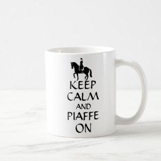 Keep Calm & Piaffe On Dressage Basic White Mug