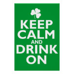 Keep Calm St Patricks Day Humour Poster