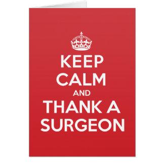 Keep Calm Thank Surgeon Greeting Note Card
