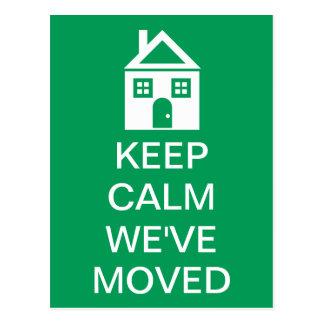 Keep Calm We've Moved Postcard