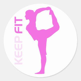 Keep Fit Round Sticker