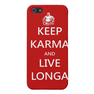 keep karma and live longa iPhone 5/5S cover