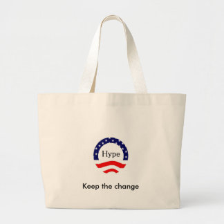 Keep the change jumbo tote bag