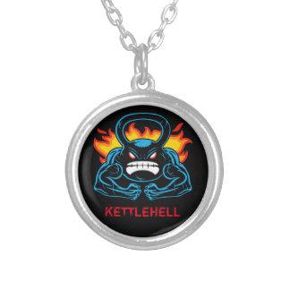kettlehell round pendant necklace