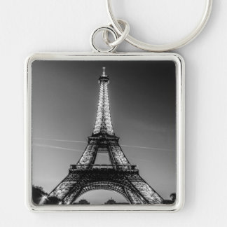 Key-ring Paris-Turn Eiffel #3 Silver-Colored Square Key Ring