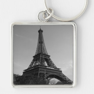 Key-ring Paris-Turn Eiffel #4 Silver-Colored Square Key Ring