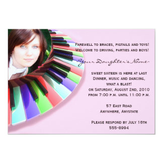 Keyboard Chaos with Your Photo 13 Cm X 18 Cm Invitation Card