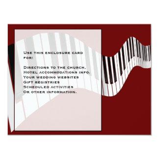 Keyboard Enclosure Card 11 Cm X 14 Cm Invitation Card