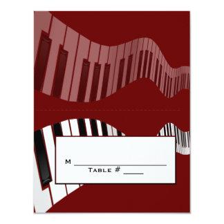 Keyboard Place card 11 Cm X 14 Cm Invitation Card
