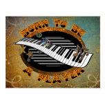 Keyboard Player Postcard