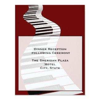Keyboard Reception Card 11 Cm X 14 Cm Invitation Card