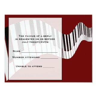 Keyboard Response Card 11 Cm X 14 Cm Invitation Card