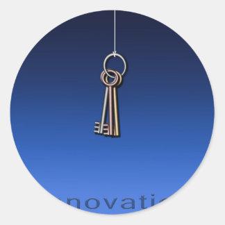Keys to Innovate Round Sticker