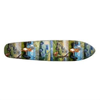 Kick Back Land Rovers Skateboard Deck.