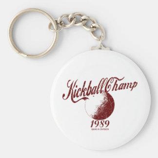 Kickball Champ Basic Round Button Key Ring
