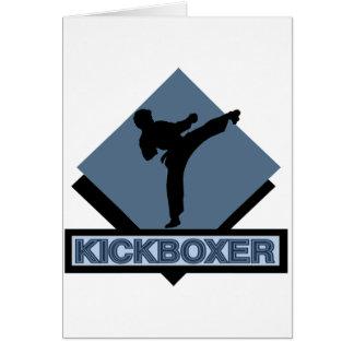 Kickboxer blue diamond greeting card